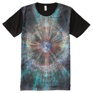 Camiseta Com Impressão Frontal Completa Aura da terra H007