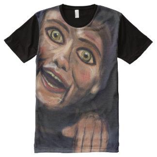 Camiseta Com Impressão Frontal Completa automatonophobia - manequim de vida