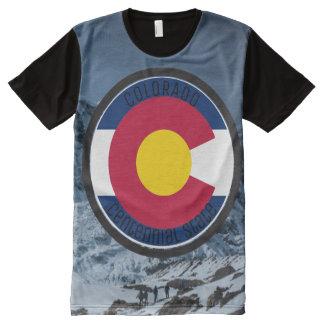 Camiseta Com Impressão Frontal Completa Bandeira da circular de Colorado