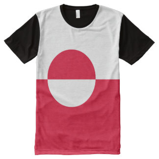 Camiseta Com Impressão Frontal Completa Bandeira de Greenland