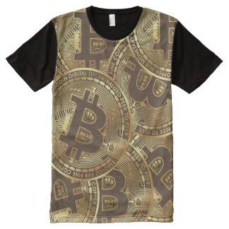 Camiseta Com Impressão Frontal Completa Bitcoin