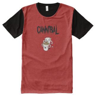 Camiseta Com Impressão Frontal Completa Canibal