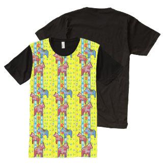 Camiseta Com Impressão Frontal Completa Cavalos de Dala