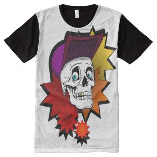 Camiseta Com Impressão Frontal Completa caveira_ALPHAKING