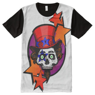 Camiseta Com Impressão Frontal Completa caveiraestrela_ALPHAKING