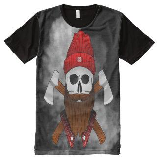 Camiseta Com Impressão Frontal Completa caveiralenhador_ALPHAKING