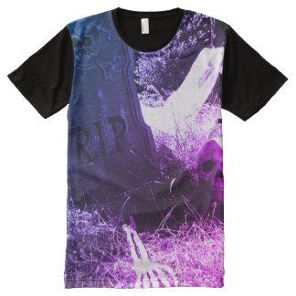Camiseta Com Impressão Frontal Completa cena do cemitério