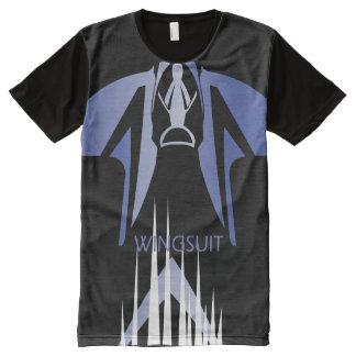Camiseta Com Impressão Frontal Completa Central de WINGSUIT WS_001 Ponto