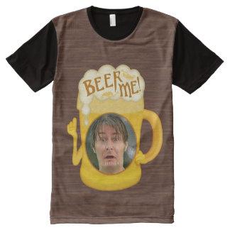Camiseta Com Impressão Frontal Completa Cerveja engraçada mim foto personalizada | do