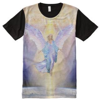Camiseta Com Impressão Frontal Completa Céu V056 & anjo da terra