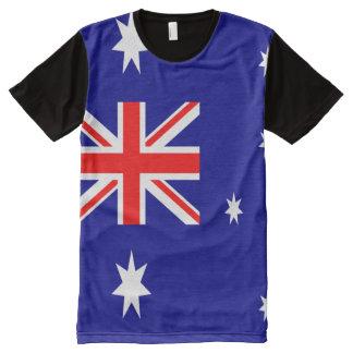 Camiseta Com Impressão Frontal Completa Cheio australiano da bandeira