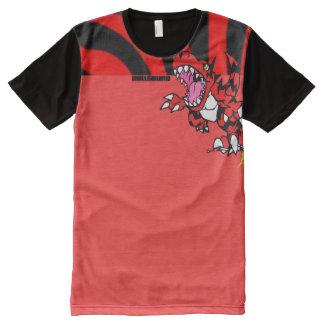 Camiseta Com Impressão Frontal Completa Cheio do réptil