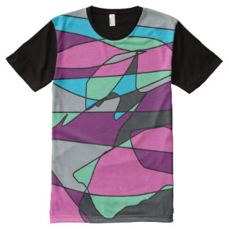 Camiseta Com Impressão Frontal Completa Cinza da imaginação