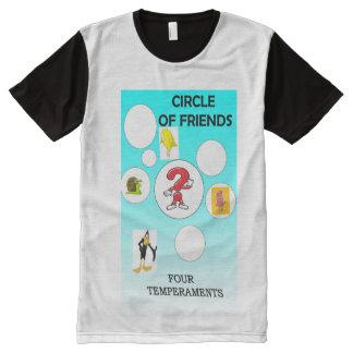 Camiseta Com Impressão Frontal Completa Círculo dos amigos