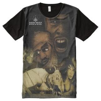 Camiseta Com Impressão Frontal Completa Colagem Hip Hop 101 do desenho