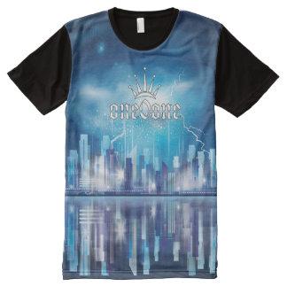 Camiseta Com Impressão Frontal Completa Coroa 101 eterno da reflexão