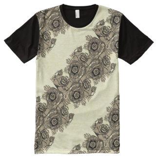 Camiseta Com Impressão Frontal Completa Corredor da Papoila-ish no Sepia