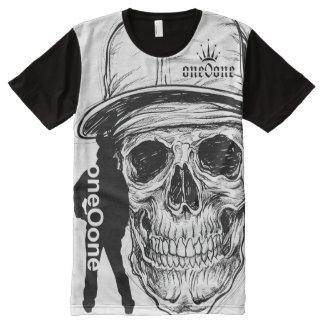 Camiseta Com Impressão Frontal Completa Crânio de esqueleto 101