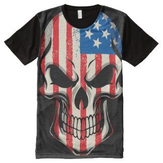 Camiseta Com Impressão Frontal Completa Crânio do americano 101