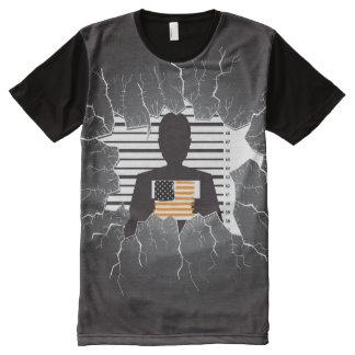 Camiseta Com Impressão Frontal Completa Criminoso americano