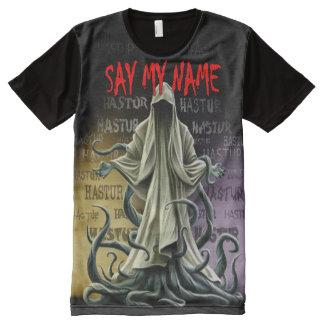 Camiseta Com Impressão Frontal Completa Diga meu nome: Hastur Hastur Hastur