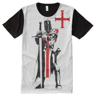 Camiseta Com Impressão Frontal Completa Edição limitada de Templar dos cavaleiros