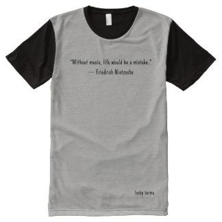 Camiseta Com Impressão Frontal Completa equipa citações inspiradores do tshirt