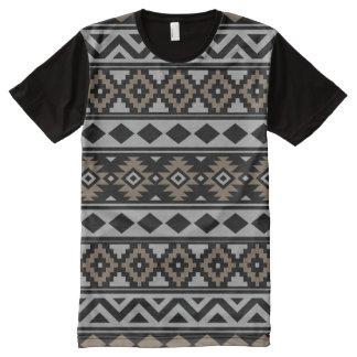 Camiseta Com Impressão Frontal Completa Essência asteca Ptn IIIb Brown cinzento preto