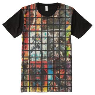 Camiseta Com Impressão Frontal Completa Estilo cómico do super-herói
