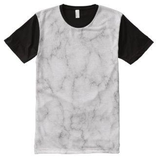 Camiseta Com Impressão Frontal Completa Estilo de mármore elegante