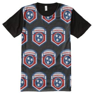Camiseta Com Impressão Frontal Completa Estilo do protetor da crista da bandeira do estado
