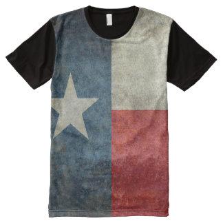 Camiseta Com Impressão Frontal Completa Estilo retro do vintage da bandeira do estado de