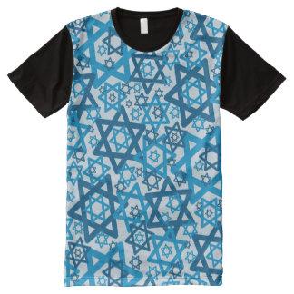 Camiseta Com Impressão Frontal Completa Estrela de David aleatória