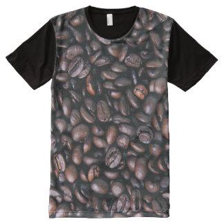 Camiseta Com Impressão Frontal Completa Feijões de café