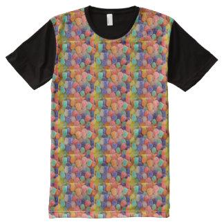 Camiseta Com Impressão Frontal Completa feijões de geléia