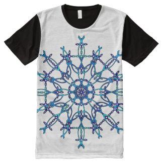 Camiseta Com Impressão Frontal Completa Floco de neve de Ichthus