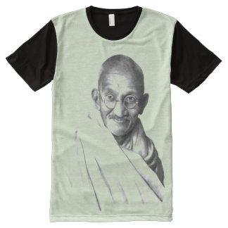 Camiseta Com Impressão Frontal Completa Gandhi: Indpendence e Nonviolence