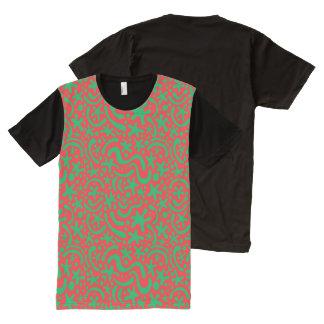 Camiseta Com Impressão Frontal Completa Gota & Squiggle loucos do Natal