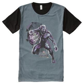 Camiseta Com Impressão Frontal Completa Gráfico do guerreiro da pantera preta | do rei