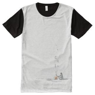 Camiseta Com Impressão Frontal Completa Homem da fogueira