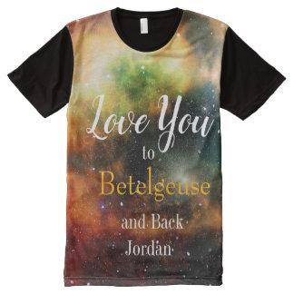 Camiseta Com Impressão Frontal Completa Homens do nerd ou do geek dos namorados
