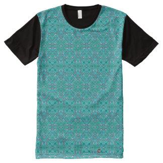 Camiseta Com Impressão Frontal Completa Hortelã aterrada