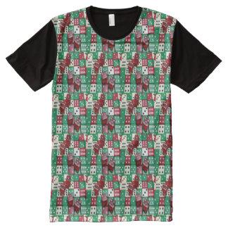 Camiseta Com Impressão Frontal Completa Impressão Assorted jogadores da parte dianteira do
