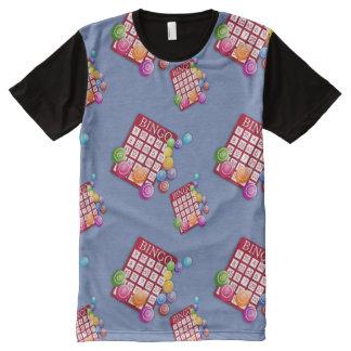Camiseta Com Impressão Frontal Completa Impressão da parte dianteira do t-shirt do design