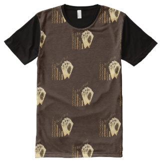 Camiseta Com Impressão Frontal Completa Impressão dos cartões de jogo e das microplaquetas