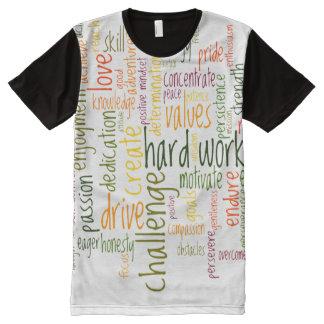 Camiseta Com Impressão Frontal Completa Incentivo inspirador do positivo das palavras #2