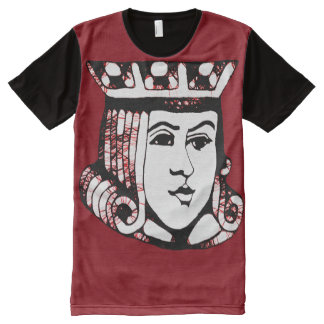Camiseta Com Impressão Frontal Completa Jack vermelho