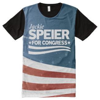 Camiseta Com Impressão Frontal Completa Jackie Speier