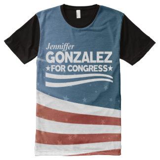 Camiseta Com Impressão Frontal Completa Jenniffer Gonzalez