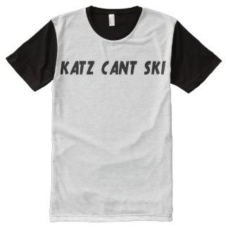 Camiseta Com Impressão Frontal Completa Katz não pode esquiar T